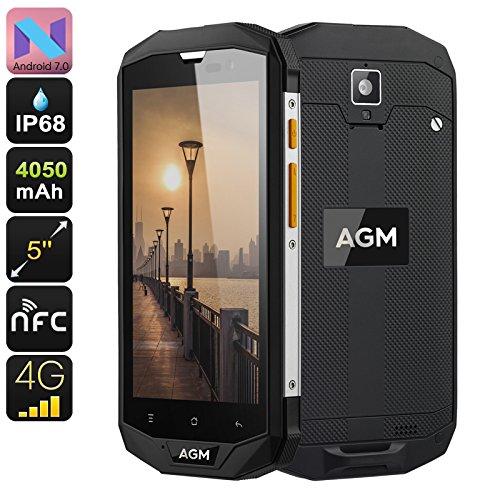 AGM A8Smartphone Android 7.0Nougat-Dual Sim 4G-Display 5.0HD Gorilla Glass 3-3GB RAM 32GB ROM-IP68Wasserdicht Staubdicht Stoßfest 4050 Gps