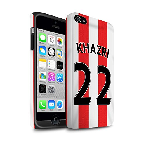 Offiziell Sunderland AFC Hülle / Matte Harten Stoßfest Case für Apple iPhone 4/4S / Pack 24pcs Muster / SAFC Trikot Home 15/16 Kollektion Khazri