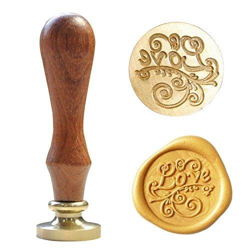 UNIQOOO artes y manualidades Fashion romántico amor símbolo invitación de boda con sello de cera sello y Set de regalo