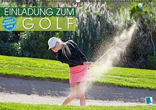 Einladung zum Golf (Wandkalender 2016 DIN A2 quer): Golf spielen: Eingelocht (Monatskalender, 14 Seiten) (CALVENDO Sport)