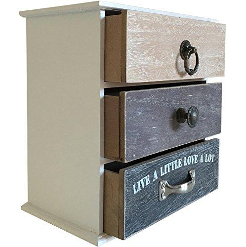 Mini Cassettiera In Legno.Mini Cassettiera Paris In Legno 3 Cassetti