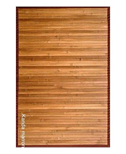 Clara Vidal Bertha Hogar - Alfombra Bambú Kanda, 140x200 cm, marrón
