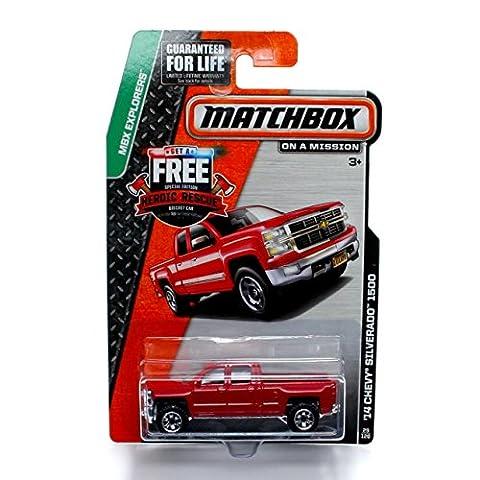 Matchbox '14 Chevy Silverado 1500 Red Pick-up Truck - MBX Explorers