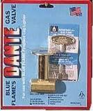Canterbury Log Lighter Gas Valve 1/2 Angle Valve, Soft Seat Globe Type Valve Polished Brass Aga by Canterbury