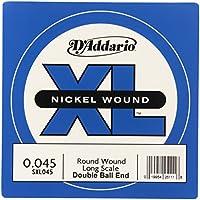 D'Addario Corde seule en nickel pour basse D'Addario SXL045, extrémités à boule, corde longue.045