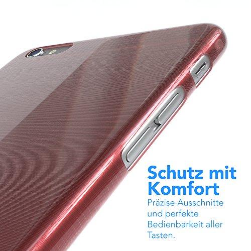 """EAZY CASE Handyhülle für Apple iPhone 6S Plus, iPhone 6+ Hülle - Premium Handy Schutzhülle Slimcover """"Clear"""" hochwertig und kratzfest - Transparentes Silikon Backcover in Klar / Durchsichtig Brushed Rosa"""