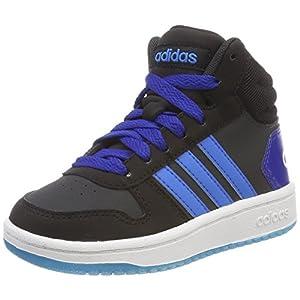 adidas Unisex-Kinder Hoops MID 2.0 Fitnessschuhe, Grau (Carbon/Azubri/Negbas 000), 37 1/3 EU