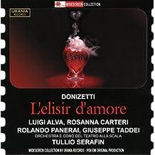 Donizetti : L'Élixir d'amour. Alva, Carteri, Panerai, Taddei, Serafin.