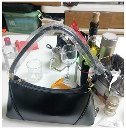 Schnalle Baguette-handtasche (Miles Sail Frauen Handtasche Baguette Bag Satchale Taschen Frauen Kleine Schultertasche Fashion Street Style Tote Weiblicher Messenger, Schwarze Handtasche)