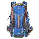 YYY-Une nouvelle journée de randonnée randonnée tourisme de plein air incontournable marche épaules étanche anti-déchirent alpinisme sac voyage sac à dos capacité 45 L , blue