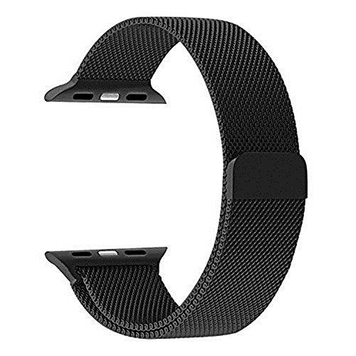 Apple reloj correa, gersymi iWatch Milanese Loop pulsera de repuesto de acero inoxidable correa para Apple reloj serie 2, Serie 1, Edición