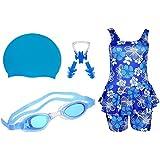 Golden Girl Swimming Kit For Girls (Light Blue_10-11 Years)