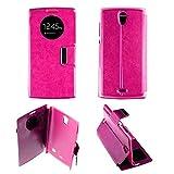 Schutzhülle/Flip-Case mit Sichtfenster, Rosa, Wandverkleidung, rund, Orange