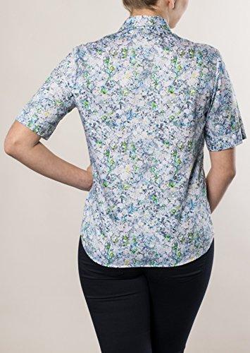 Michaelax-Fashion-Trade - Chemisier - Uni - Manches Longues - Femme Blau (16)