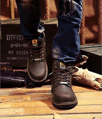 Brown Lovezhou Stivali da Giallo uomo Yellow equitazione vYvnPOx