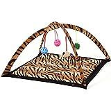 Cat Bed Pet Cat Tent Folding Multifunction Amusement Park Leopard Print Cat Toys (Leopard Print)