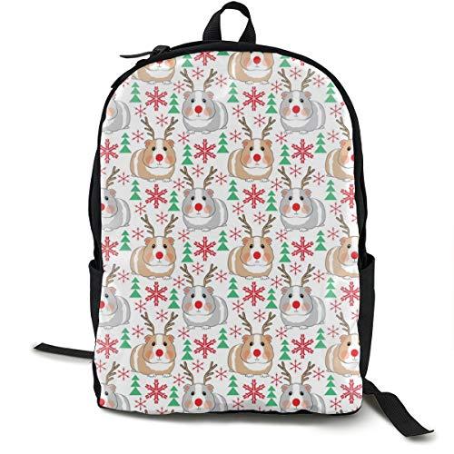 Tiny Reindeer Guinea Pigs Adult Premium Travel Backpack, Water-Resistant College School Bookbag, Sport Daypack, Outdoor Rucksack, Laptop Bag for Men&Women