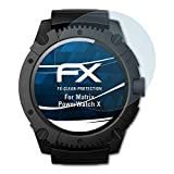 atFoliX Displayschutzfolie für Matrix PowerWatch X Schutzfolie - 3 x FX-Clear kristallklare Folie