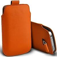 ( Orange ) Orange Miami Protezione Faux Leather Pull pelle