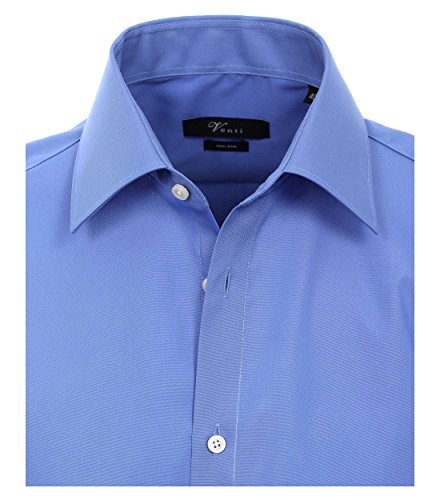 Michaelax-Fashion-Trade - Chemise casual - Uni - Col Chemise Classique - Manches Longues - Homme Azul (11)
