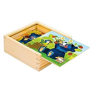 ToyCentre-Mi Mi Primer Puzzle, baribal (Bino Europe 13204)