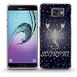 Zodiaque Scorpion, Scorpion, Cristal Clair Antichoc Soft Gel Silicone Coque Etui Case Housse Protection avec Image Coloré pour SAMSUNG A5 2016