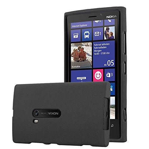 Preisvergleich Produktbild Cadorabo Hülle für Nokia Lumia 920 - Hülle in Frost SCHWARZ – Handyhülle aus TPU Silikon im matten Frosted Design - Silikonhülle Schutzhülle Ultra Slim Soft Back Cover Case Bumper