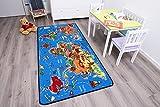 Spielteppich Kinderteppich - Weltkarte 0,95 x 2,00