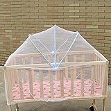 Baby-Moskitonetz Schöne Krippe Moskitonetz Babybett-Zubehör Insekt Mesh-Netz Schlafen Bett Zubehör für Baby Kinder Blau