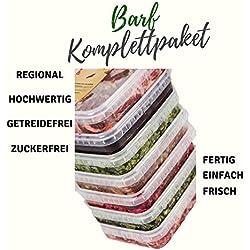 Barffleisch Fertigbarf Regional in NRW produziert -Komplettpaket Getreidefrei Zuckerfrei -20x 500g in wiederverschließbaren Schalen