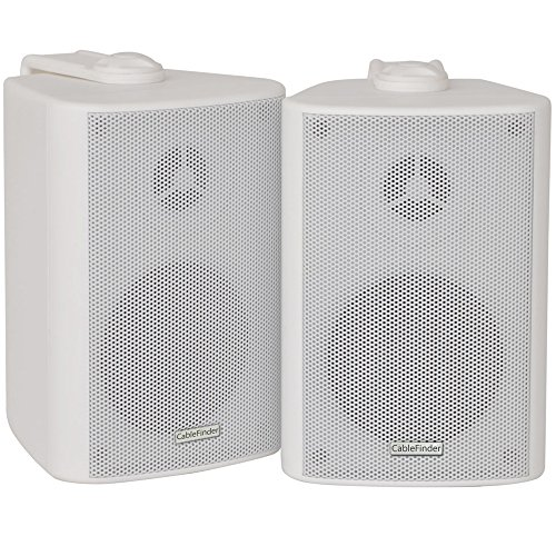 SMART HOME 5 ZONE BLUETOOTH SPEAKER KIT     10x White Wall Mounted Speakers  1x 110W Compact Stereo Amplifier  1x Speaker Splitter   Cable  WORKS WITH ECHO   ALEXA  - Wireless HiFi Audio Background Music Amp Player Accessories Sound System     Restaurant  Bar  Hotel  Shop  Pub  Caf    Home