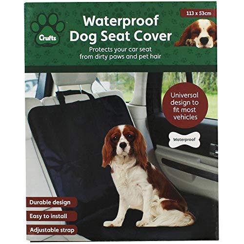 Crufts, coprisedile singolo per animali domestici impermeabile, per proteggere sedile anteriore/posteriore/bagagliaio