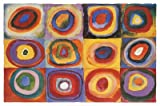 Poster 'Farbstudie Quadrate', von Wassily Kandinsky, Größe: 91 x 61 cm