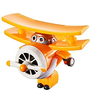 Alpha Animation & Toys- Super Wings YW710060-Transform-A-Bots Grand Albert, Spielzeugfigur, Gelb naranja, color blanco (YW710060)