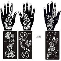6 fogli Mehndi Tattoo Stencil mano Mehndi