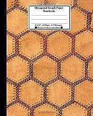 Hexagonal Graph Paper Notebook. 8 X 10. 120 Pages. 0.5 Hexagons: Hexagons and Honeycombs Design