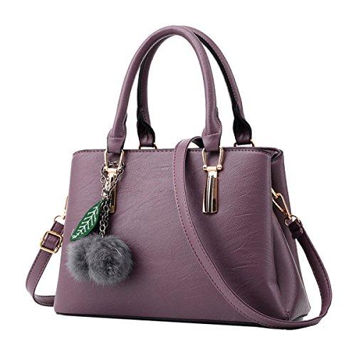 Borsa Yy.f Nuove Donne Di Arrivo Sacchetto Femminile Di Mezza Età Messenger Bag La Signora Sacchetti Di Spalla Di Modo Pratico Interno Multicolore Purple