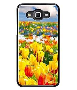 PrintVisa Yellow Floral High Gloss Designer Back Case Cover for Samsung Galaxy Grand 3 :: Samsung Galaxy Grand Max G720F