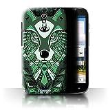 Stuff4 Hülle / Hülle für Huawei Ascend G610 / Wolf-Grün
