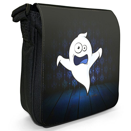 I mostri piccolo nero Tela Borsa a tracolla, taglia S The Monsters - Ghost