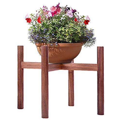 PROKTH Burlywood Nussbaum Buche Blumenständer Single Bay Fenster Balkon Desktop Mini Blumentopf Halter Kleine Grüne Topf Blumentopf Halter Topfregal Latten,Aufbewahrungsboxen