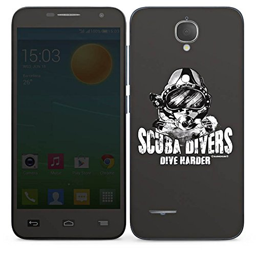 DeinDesign Alcatel One Touch Idol Mini L Slate Case Skin Sticker aus Vinyl-Folie Aufkleber Scuba divers Dive Harder Taucher tauchen -