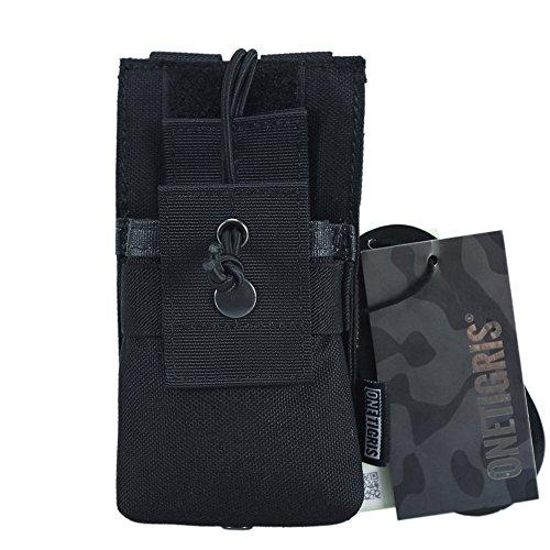 onetigris Binokular Tactical MOLLE kurz Radio Tasche für Baofeng UV bf-f8uv-82Tragetasche, Baofeng Radio Pouch, schwarz