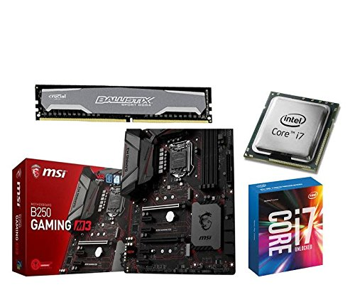 Aufrüstkit MSI B250 Gaming M3+i5-7700k+8GB Balli Desktop PC (Intel Core i7, 8GB RAM, Intel HD Graik 630) grau