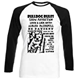Teesquare1st Men's FRENCH BULLDOG DOG RULES PB 36 Black Long Sleeved T-Shirt Size Large