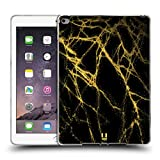 Head Case Designs Gold Marmor Glitzer Druecke Soft Gel Hülle für iPad Air 2 (2014)