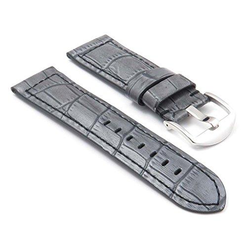 dassari-cartel-bande-pour-montre-en-cuir-gaufre-crocodile-gris-pour-panerai-24-22-24mm