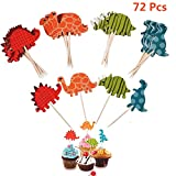 cholinchin Cake Topper Cupcake Palillos para Dino Party, Muffins...