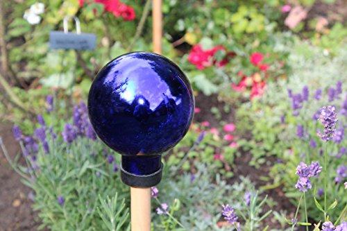 1PLUS Rosenkugeln Dekokugeln mit Unterschiedlichen Farben, Gartenkugeln für Den Garten als Schicke Gartendekoration - Deko Kugeln Glaskugeln (10 cm, Blau)