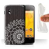 Stuff4 Coque Gel TPU de Coque pour LG Nexus 4/E960 / Henné de Noix Design/Bois...